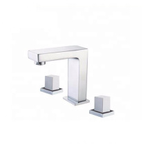 YL-06113 Modern style chrome brass water mixer taps 3 pieces bathroom sink faucet