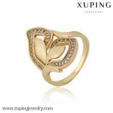 12835 Китая оптом Xuping мода элегантный 18k золотой жемчуг женщина кольцо