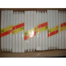 Etiqueta de cera de casa cera de pilar branco vela