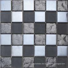 Silber Metall Mosaik Fliesen Edelstahl Dekor Küche Zimmer