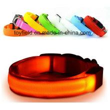 Pet LED colar noite de segurança piscando colarinho de cão