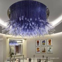 Modern Decorative Hotel Lobby Handmade Murano Glass Pendant Lights Large Ceiling Hanging Chandeliers