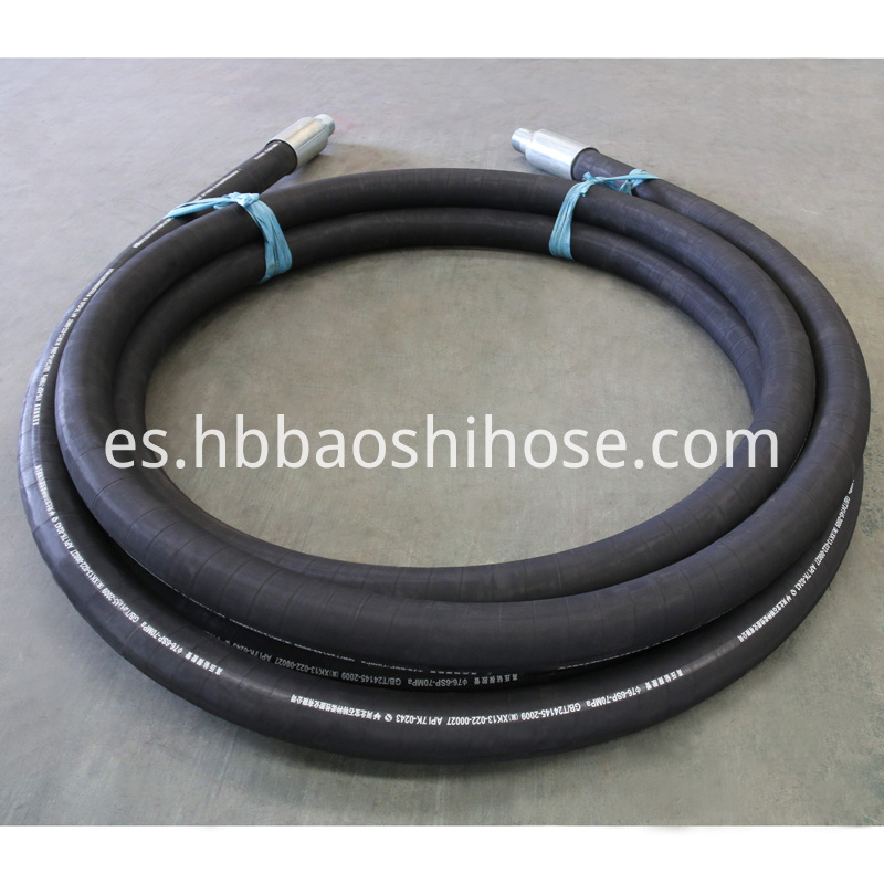 Spiraled Drilling Rubber Pipe