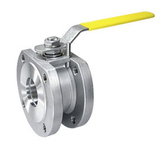 One Piece Wafer Flanged Ball Valve