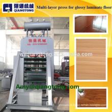 Máquina de pressão quente multi-camada de placa de luz alta / para piso de alto brilho