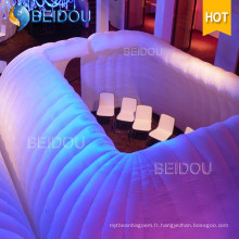Outdoor Inflatable Car Igloo Clear LED Party Tents Inflatable Bubble Camping Dome Tent à vendre
