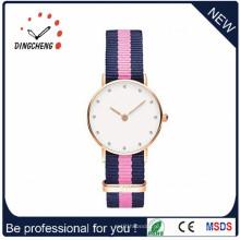 Мода бизнес мужские часы с нержавеющей стальной лентой