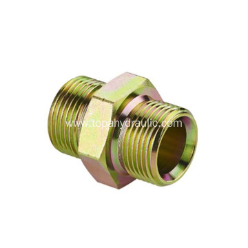 Brass hydraulic hose to hose pipe connectors