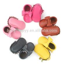 Sapatos por atacado baby mocassins bonito arco puro sapatos de bebê recém-nascidos