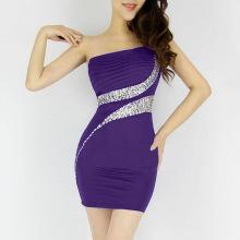 A one-shouldered drape diamond-encrusted mermaid line is a dress of bridesmaid dresses