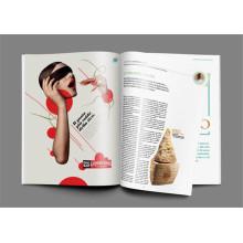 Impression de magazine faite sur commande de magazine de mode pour la maison d'édition