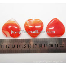 Natural red agate heart shape 35MM