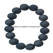 Lembrança plástica colorida do bracelete do grânulo preto do PVC do fornecedor chinês colorido