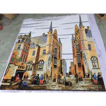 Hintergrund Design Mosaik, Kunst Muster Mosaik Wandfliese (HMP890)