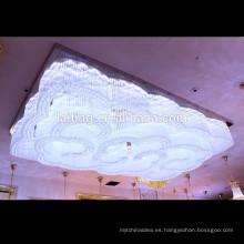 Lámpara de cristal pendiente modificada para requisitos particulares de alta calidad del proyecto de la araña de la lámpara grande para el pasillo del hotel de la sala de banquete de la iglesia