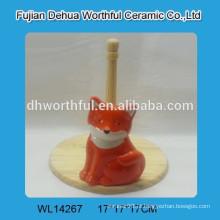 Cutely fox titular cerâmica tecido
