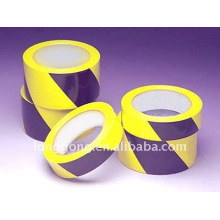 Cinta de precaución de PVC rojo y amarillo