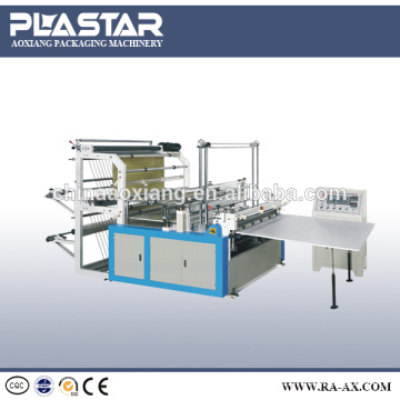 Full Automatic plastic t-shirt Bag making Machine with double lines