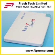 Personalizado 2600mAh Slim cartão de crédito Power Bank carregador para promoção (C504)