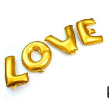 Letras de alfabeto grande barato e números Paty decoração balões de folha