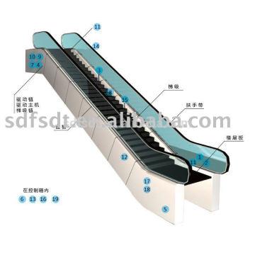 China neue Aufzug Herstellung automatische Passagier Bürgersteig / Rolltreppe 35 Grad und 30degree (FJF6000)