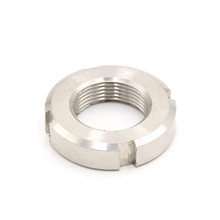 High performance fasteners m6 m8 stainless steel round slotted nut