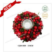 Dia 18cm modische Hochzeits-Dekoration-Plastikweihnachtsverzierungen Weihnachtsgeschenk