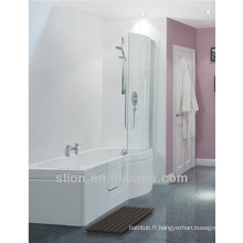 1700mm Tailles de bain Walk in Bath P Shape Acrylic Tubs