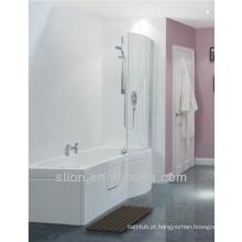 Tamanhos de banho de 1700mm Walk in Bath P Shape Acrylic Tubs