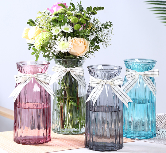 Glass vase ornaments