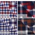 tela 100% de alta calidad de la tela de algodón para la camisa de vestir de los hombres