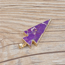 Wholesale Agate Gold Bezel Natural Stone Charm Druzy Quartz Pendants