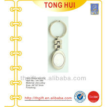 Metal oval shape blank key chains for promotion gifts