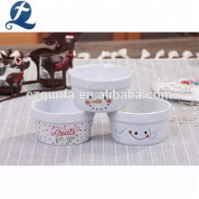 Venta al por mayor de encargo pequeños platos de cerámica para hornear Set