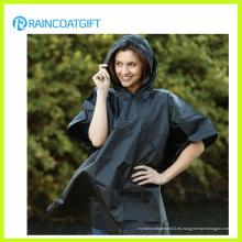 Poncho ligero encapuchado de la lluvia del PVC (RVC-034)