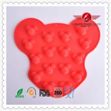 Molde de pastel de Mickey de silicona de alto grado 2015