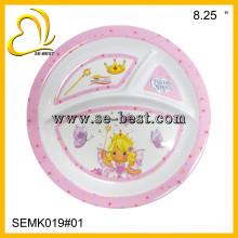 Melamine Kid Plate, 3 divide melamine plate, Kid plate