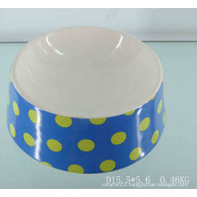 Round Ceramic Pet Food Bowl