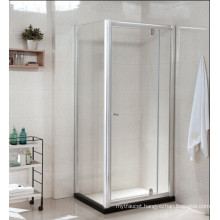 Tempered Glass Bathroom Shower Enclosure with Artificial Stone (P22)