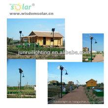 Profesional CE Solar jardín parque solar, luz de LED