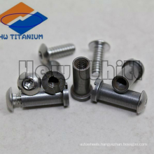Gr5 titanium female threaded screw