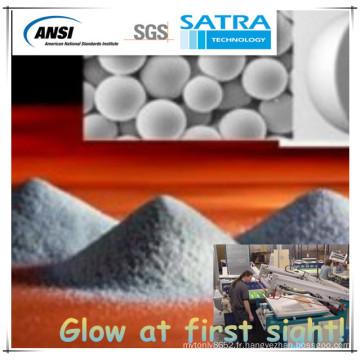 Microsphères en verre revêtu d'aluminium