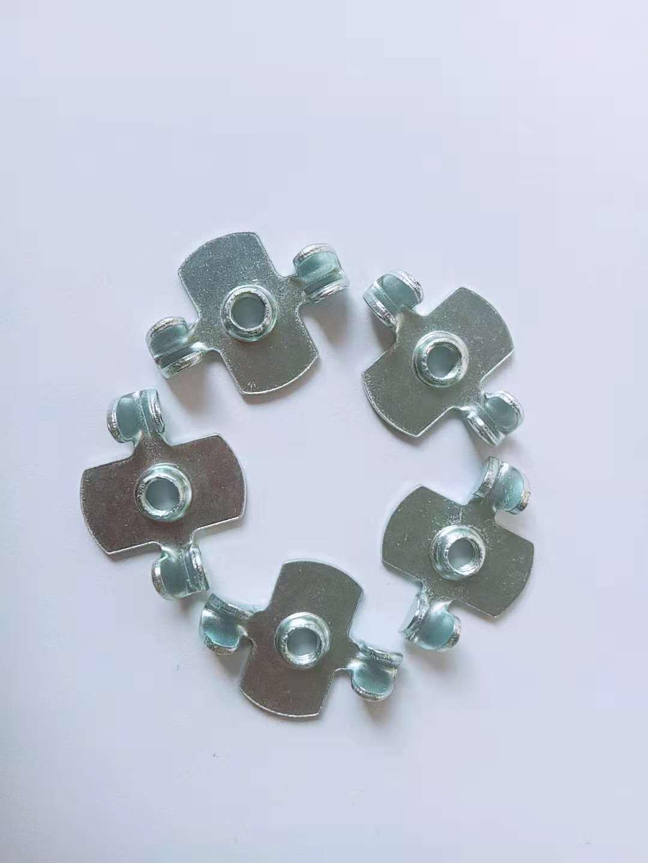 Carbon steel alien Full thread Butterfly type nuts