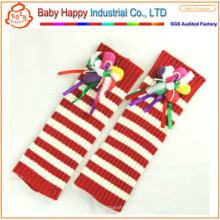 Wholesale best selling crochet stripe baby leg warmers