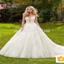 Vestido de boda de lujo de calidad superior del vestido del vestido del vestido de bola del vestido del vestido del saab del elie del victorian del imperio de la imagen real China Factory