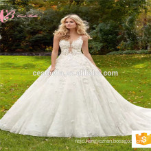 Real picture Empire victorian elie saab dress top quality luxury Ball Gown Bridal Dress wedding dress China Factory
