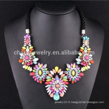 Collier de bijoux en forme de fleur à la mode New 2015 pour femmes SN-036