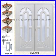 Porte principale en bois d'entrée de conception double
