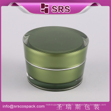 Chine en ligne shopping rond crème de maquillage cosmétiques en or 50ml jar acrylique