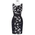 Kate Kasin Sleeveless Round Neck Sequined Cocktail Dress Short Black KK000195-1